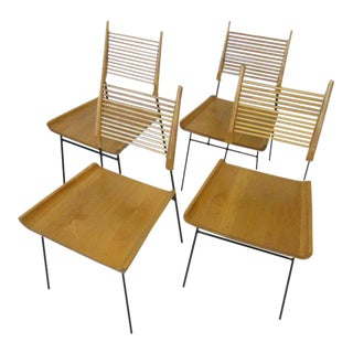 Paul McCobb Shovel Seat Dining Chairs from the Planner Group - set of 4 For Sale