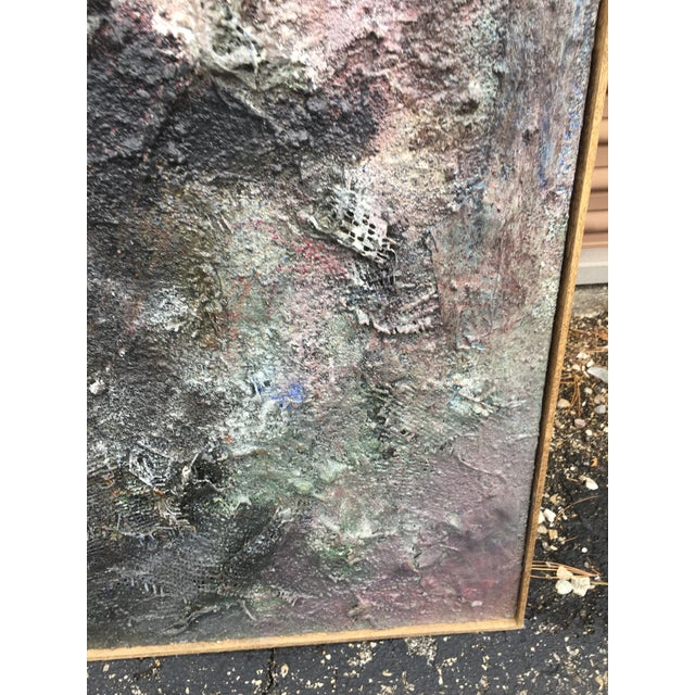"""Tall Abstract """"Summer 1988"""" Gray Mixed Media Painting by Louis Papp For Sale - Image 4 of 8"""