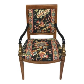 Wood-And-Gilt Dolphin Armchair