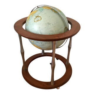 Mid-Century Illuminated Floor Globe For Sale