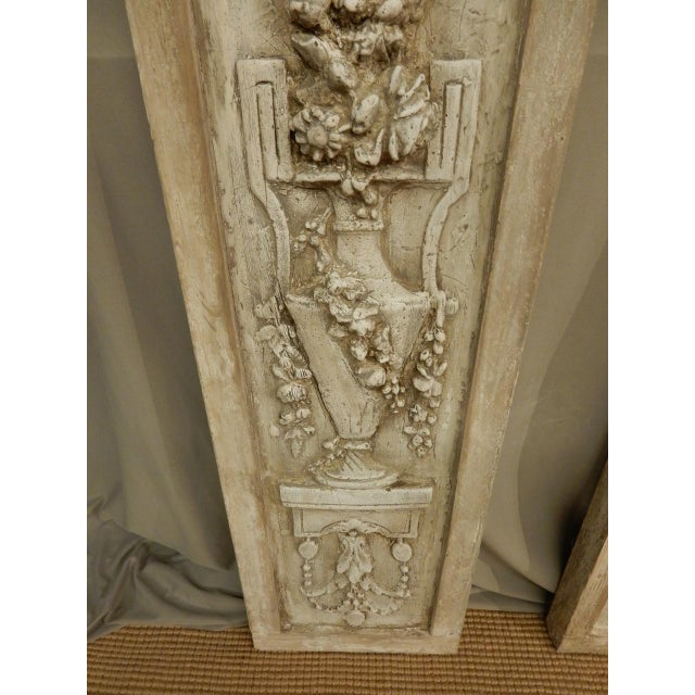 French Classical Plaster Reliefs - a Pair For Sale In New Orleans - Image 6 of 7