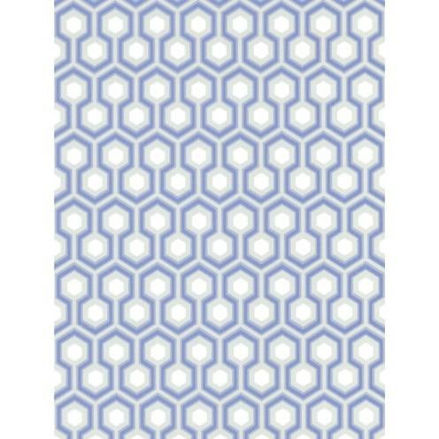 Contemporary Cole & Son Hicks' Hexagon Wallpaper Roll - Blue/Gr For Sale - Image 3 of 3