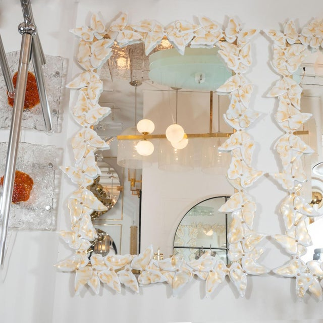 2020s Murano Glass Butterfly Surround Mirror For Sale - Image 5 of 5