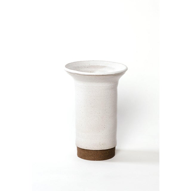 Contemporary Two Tone Ceramic Vase For Sale - Image 3 of 3