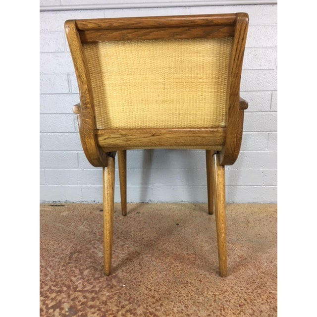 Oak Cane Sling Side Chair - Image 5 of 8