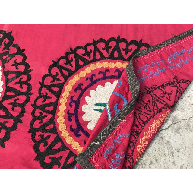 Oversized Vintage Suzani Tapestry - 14.8 x 6' - Image 6 of 6