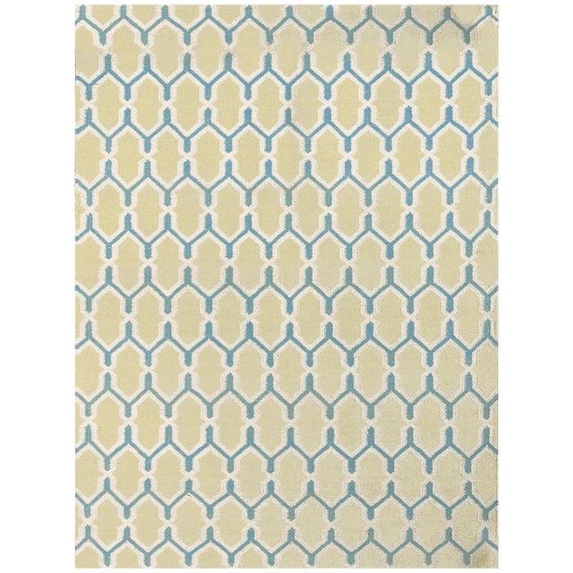 Zara Trellis Yellow Flat-Weave Rug 8'x10' For Sale