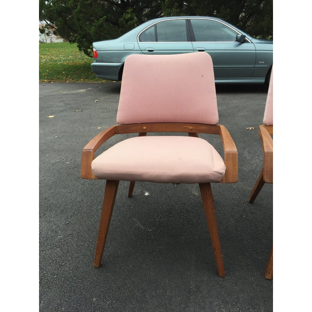 Mid-Century Modern John Keal by Brown Saltzman Dining Room Chairs - Set of 4 For Sale - Image 3 of 9
