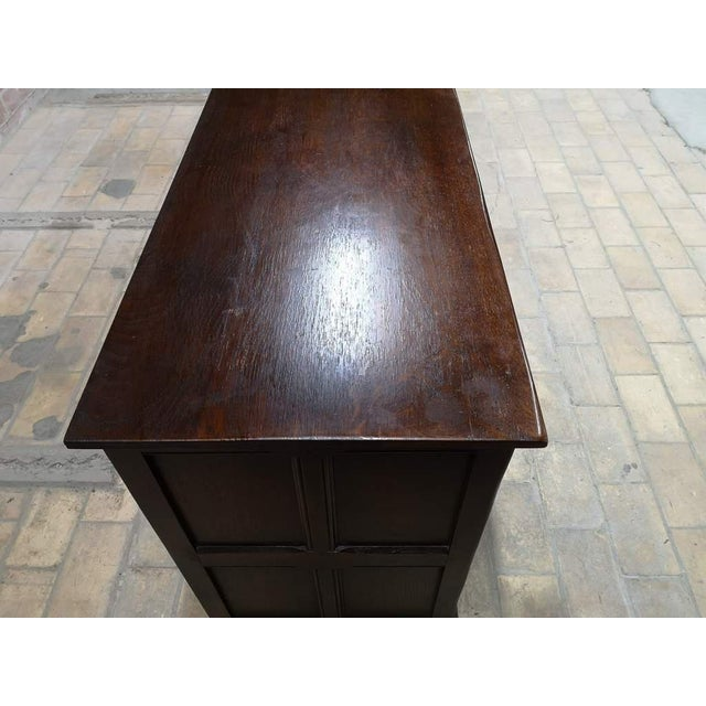 Early 20th C. French Country Oak Sideboard Credenza Buffet Server For Sale - Image 10 of 13