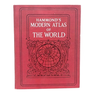 1920s World Atlas With Decorative Cover For Sale