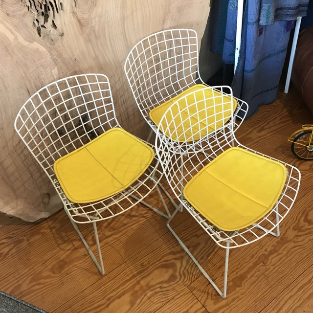 Yellow 1950s Vintage Harry Bertoia Child's Chairs - Set of 3 For Sale - Image 8 of 11