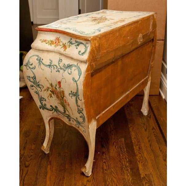 1990s French Shabby Chic Hand Painted Commode For Sale - Image 4 of 6