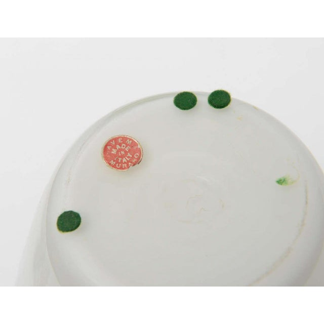 White Fine Pair Italian Glass Decanters, Seguso, Murano For Sale - Image 8 of 9