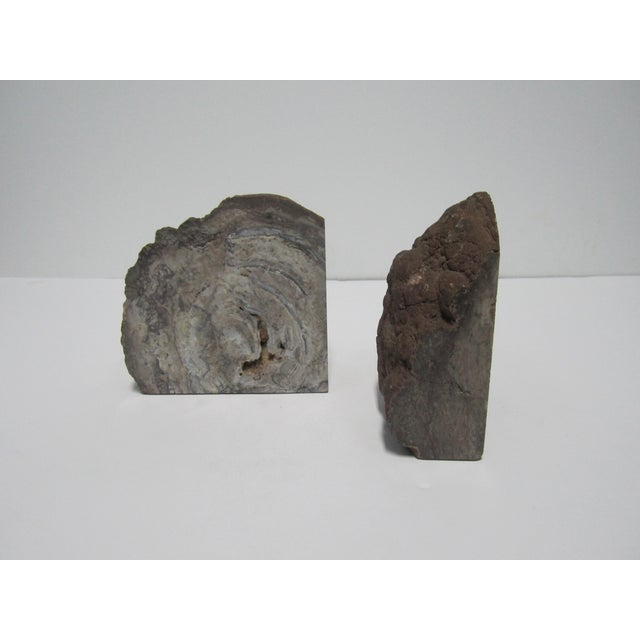 Vintage Gray Geode Bookends - A Pair - Image 3 of 7