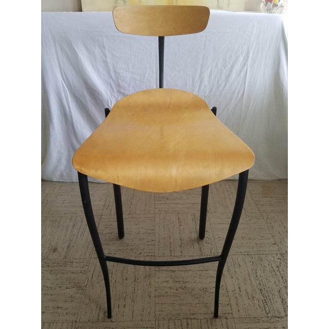 Contemporary Modern Bar Stools - Set of 3 For Sale - Image 3 of 8