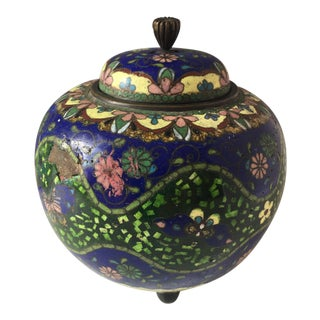 Blue & Green Cloisonné Jar