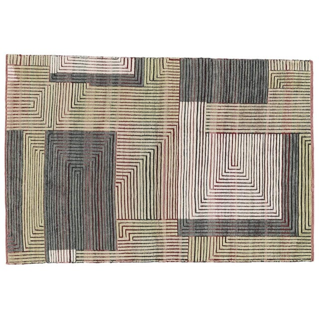 Mid-Century Modern Knossos Melon, 4 x 6 Rug For Sale - Image 3 of 3