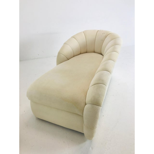 White MCM Channel Chaise by Directional For Sale - Image 8 of 12