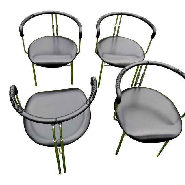 Abstract CiDue Italian Chairs - Set of 4 For Sale - Image 3 of 9