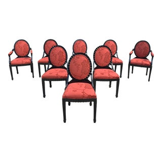 1940s Vintage Classic French Art Deco Dining Chairs 1940s Set of 8 For Sale
