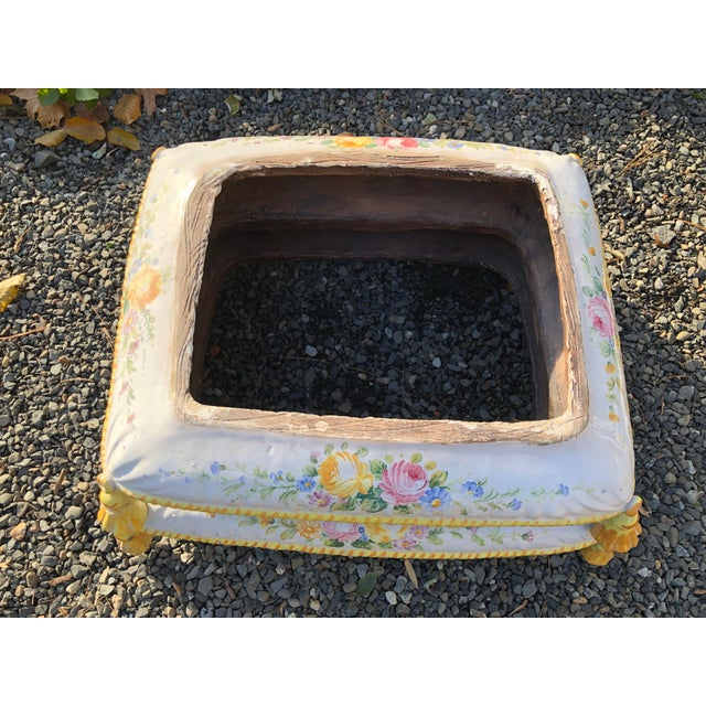 1960s Vintage Ceramic Garden Seat For Sale - Image 4 of 13