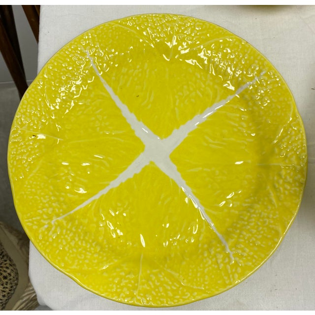 Yellow Mario Buatta Style Yellow Lettuce Luncheon Set - Set of 16 For Sale - Image 8 of 12