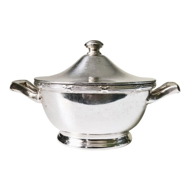 1933 Silver Plated Sugar Bowl From Pullman Company For Sale