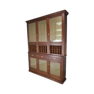 Antique Walnut Large Back Bar General Store Cabinet For Sale