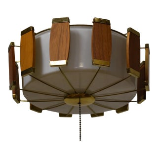 Lightolier Walnut Light Fixture For Sale