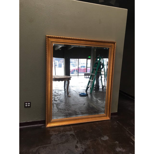 Gold Oversized Gold Framed Beveled Glass Mirror For Sale - Image 8 of 8