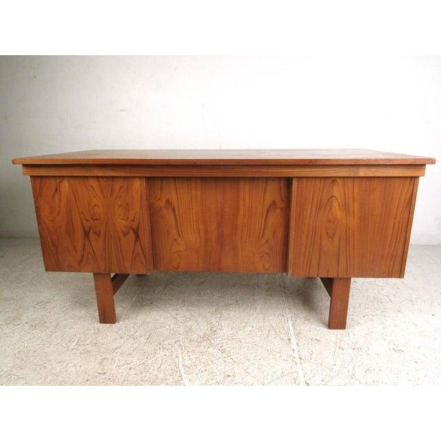 Danish Modern Teak Desk - Image 5 of 10