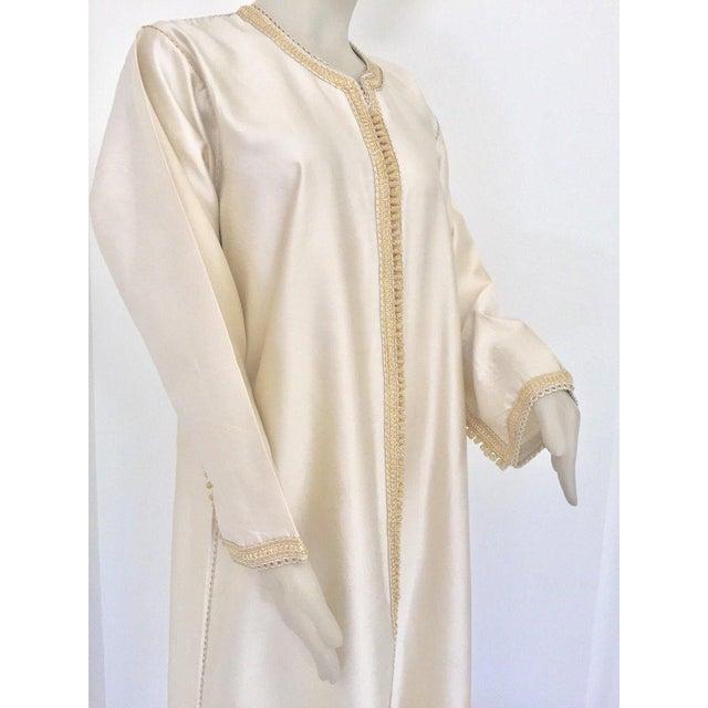 Moroccan Elegant Luxury Dupiono Silk Caftan Gown Maxi Dress For Sale - Image 11 of 13