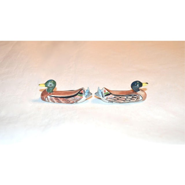 Cottage Porcelain Duck Knife Rests - A Pair For Sale - Image 3 of 8