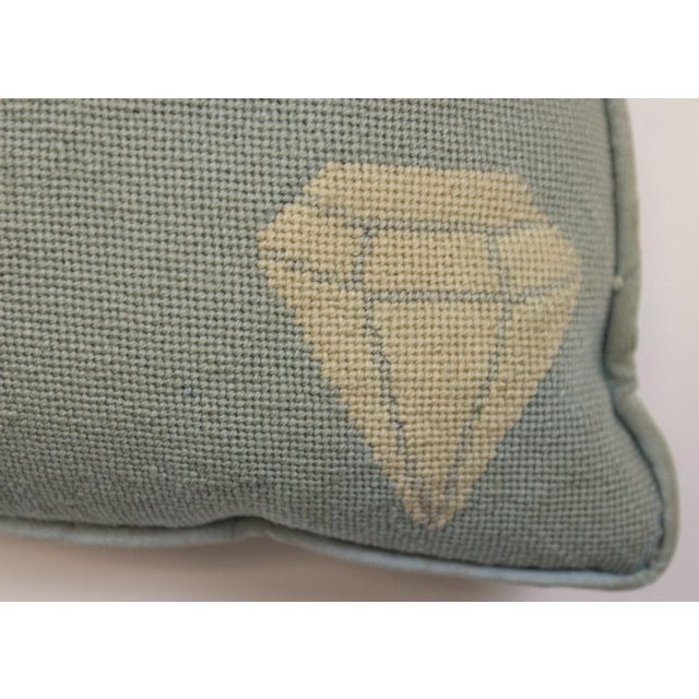 """Traditional Fab Tiffany Blue """"Playing Cards & Martini Glass"""" Petit-Needlepoint Pillow For Sale - Image 3 of 5"""