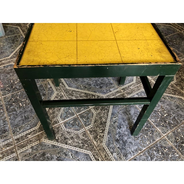 Wood 20th Century Rustic Kittinger Modern Painted Side Table For Sale - Image 7 of 11