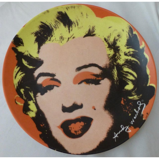Ceramic Andy Warhol Marilyn Monroe Dinner Plates - Set of 5 For Sale - Image 7 of 11