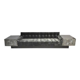 Brutalist Platform Sofa by Adrian Pearsall For Sale