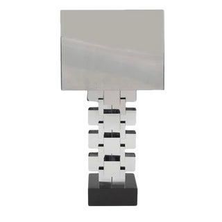 Curtis Jere Chrome Geometric Skyscraper Lamp For Sale