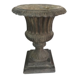 Antique French Cast Iron Urn For Sale