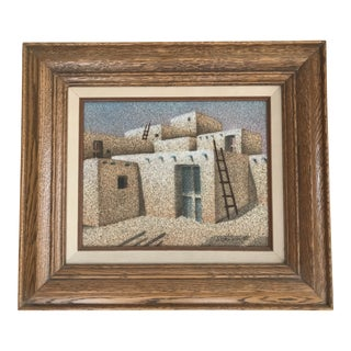 1960s Southwestern Pueblo Painting on Sand For Sale