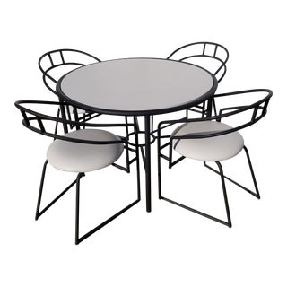 1990s Post Modern Laminate Top Dining Set - 5 Pieces For Sale