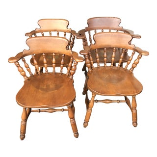 1940s Vintage Heywood Wakefield Chairs- Set of 4 For Sale