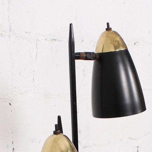 Mid-Century Black 3-Arm Adjustable Floor Lamp - Image 4 of 9