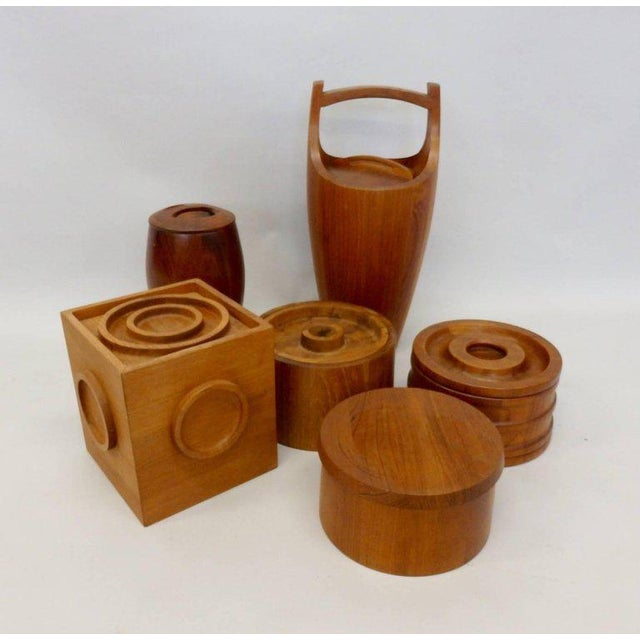 Teak Collection of Danish Dansk Teak Quistgaard Ice Buckets For Sale - Image 7 of 8