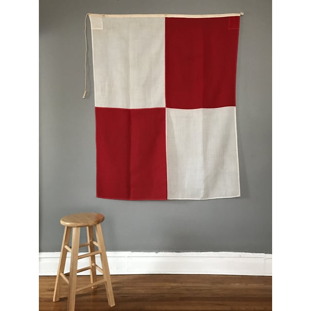 "Vintage Nautical Flag Signal ""U"" - Image 3 of 5"
