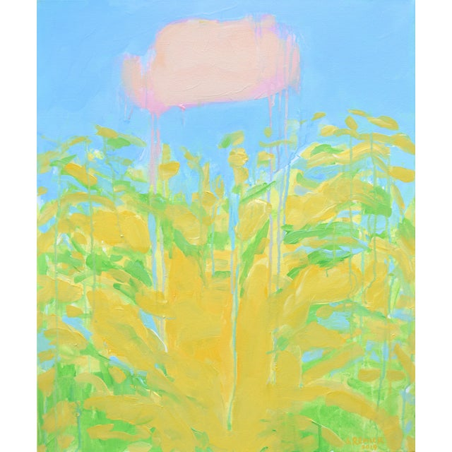 """Contemporary Abstract """"Keep on the Sunny Side"""" Painting by Stephen Remick For Sale - Image 11 of 11"""