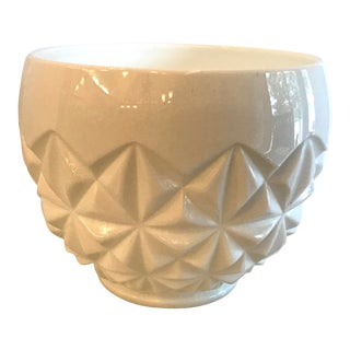 Mid-Century Modern Milk Glass Patterned Planter For Sale