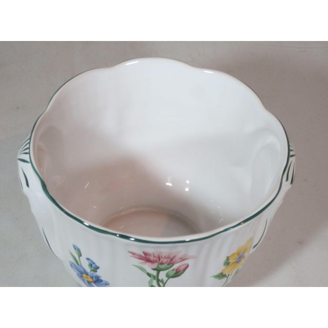 Tiffany and Co. Vintage Tiffany & Company Floral Cachepot For Sale - Image 4 of 6
