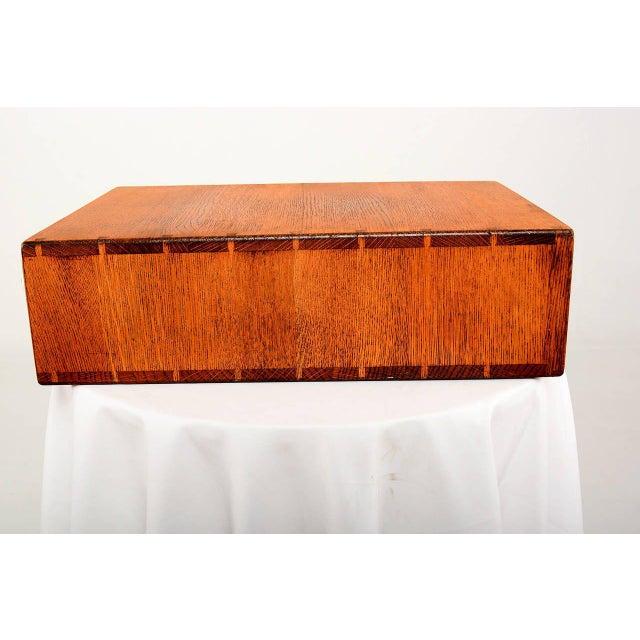 Vintage Oak File Box For Sale - Image 9 of 9