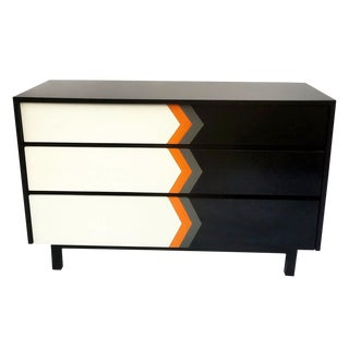 Mid-Century Geometric Three Drawer Dresser/Credenza For Sale